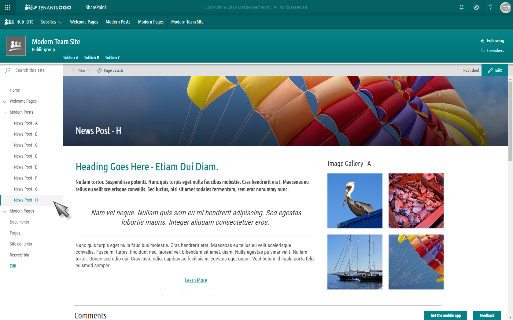 Modern Templates For Sharepoint Online O365