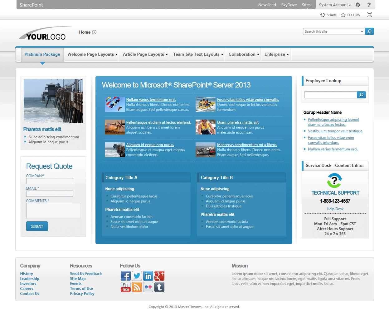Shades of Colors 2013 SharePoint Themes, SharePoint 2013 Themes ...